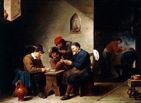 David Teniers: Kartenspielende Bauern in einer Stube