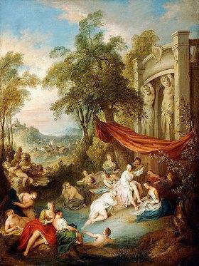 Jean-Baptiste François Pater: Badende Nymphen