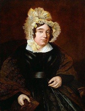 Jacques Laurent Agasse: Porträt von Mrs. Edward Cross, sitzend, in einem dunklen Satinkleid und einem Paisley-Schal. (siehe auch Bildnummer 44111)