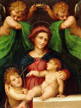 Rosso Fiorentino (Giovanni-Battista di Jacopo): Madonna und Kind mit Johannes dem Täufer und zwei Engeln