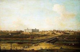 Antonio Joli: Madrid mit dem Palacio Real vom Westufer des Manzanares