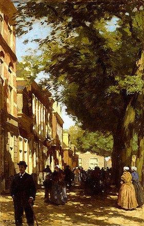 Willem Bastiaan Tholen: Straßenszene am Mittag