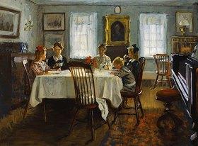 William Wallace Gilchrist: Die Familie des Künstlers am Frühstückstisch
