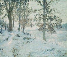 Walter Launt Palmer: Lingering Oak Leaves (Letzte Eichenblätter)