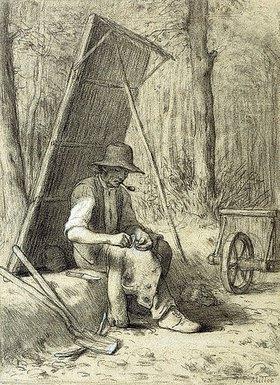 Jean-François Millet: Der Straßenarbeiter (Le Cantonnier)
