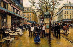 Ulpiano Checa y Sanz: La Place de l'Opéra, Paris