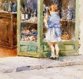 Vincenzo Irolli: Ein Mädchen an einem Schaufenster