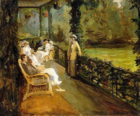 Sir John Lavery: Auf der Veranda