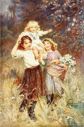 Frederick Morgan: Blumenpflückende Mädchen