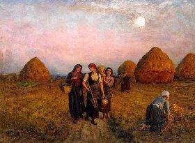 Jules Breton: Abenddämmerung (Ardeurs du crépuscule)