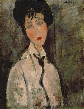 Amadeo Modigliani: Frau mit schwarzer Kravatte