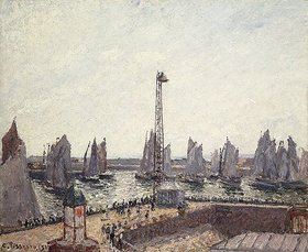 Camille Pissarro: Avant-port et Anse des Pilotes (Außenhafen und Kräne, Le Havre.)
