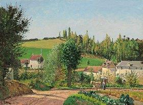 Camille Pissarro: Kleines Dorf nahe Pontoise (Hameau aux Environs de Pontoise)