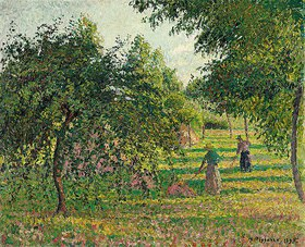 Camille Pissarro: Apfelbäume und Heuwender in Eragny (Pommiers et Faneuses, Eragny)