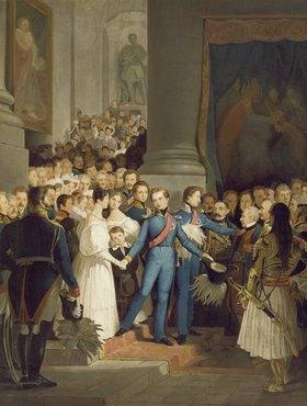 Philipp Foltz: Abschied König Ottos vom Münchner Hof