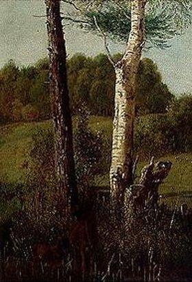 Wilhelm von Kobell: Landschaft mit Rehen