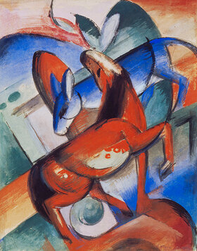 Franz Marc: Pferd und Esel. 1912