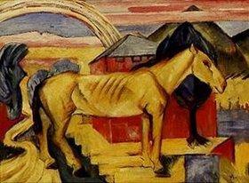 Franz Marc: Das lange gelbe Pferd