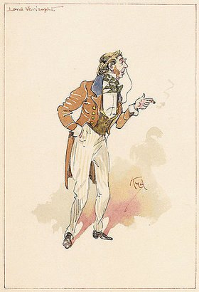 Joseph Clayton Clarke: Lord Verisopht. Aus 'Thirty-six original character studies illustrating Nicholas Nickleby'
