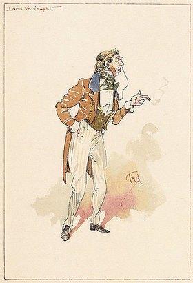 Joseph Clayton Clarke: Lord Verisopht. Aus 'Thirty-six original character studies illustrating Nicholas Nickleby'