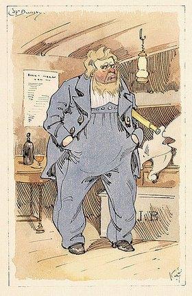Joseph Clayton Clarke: Captain Jack Bunsby, Figur aus 'Dombey and Son' von Charles Dickens