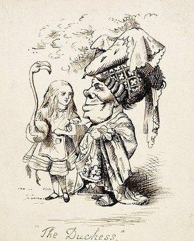 John Tenniel: Die Herzogin. Illustration aus 'Alice im Wunderland' von Lewis Carroll (1832-1898)