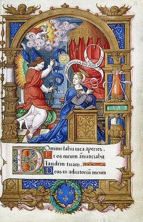 Französisch: Verkündigung, aus einem Stundenbuch für Franz I., Paris oder Tours