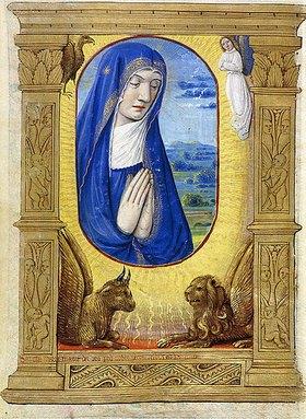 Französisch: Betende Madonna. Aus einem Stundenbuch, Paris, Rouen oder Tours