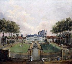 Jean François Hue: Ansicht von Château de Mousseaux und seiner Gartenanlage