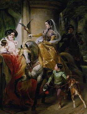 Emile Jean Horace Vernet: Leonilla Fürstin zu Sayn-Wittgenstein- Sayn zu Pferde