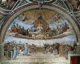Raffael (Raffaello Sanzio): Disput über das Sakrament (Disputa del Sacramento)