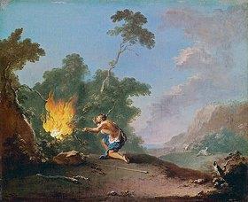 Norbert Grund: Moses vor dem brennenden Dornbusch