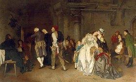 Ernst Meisel: Abschied Ludwigs XVI von seiner Familie im Temple von Paris