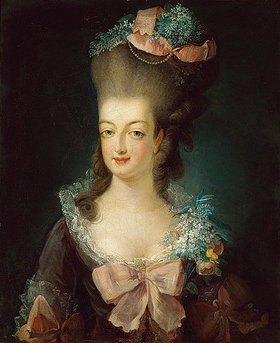 Französisch: Porträt von Marie Antoinette in einem fliederfarbenen Kleid