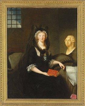 Anne-Flore (Marquise de Brehan) Millet: Porträt von Marie Antoinette, Königin von Frankreich im Gefängnis der Pariser Conciergerie