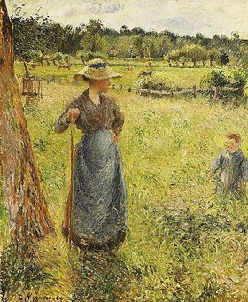 Camille Pissarro: Die Heumacherin (La Faneuse)