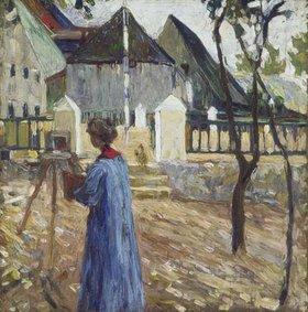 Wassily Kandinsky: Gabriele Münter beim Malen in Kallmünz