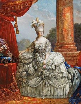 Elisabeth-Louise Vigée-Lebrun: Porträt von Marie Antoinette in einem federgeschmückten Kopfputz