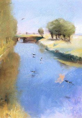 Lesser Ury: Landschaft mit Kanal