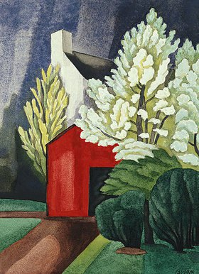 Oscar Florianus Bluemner: May Night Red House