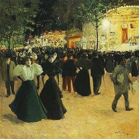 Louis Abel-Truchet: La Fête foraine, Place Pigalle. (Vergnügungspark, Place Pigalle)