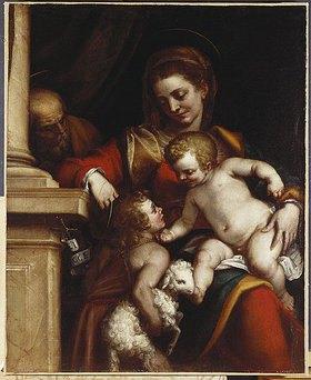 Luca Cambiaso: Die Heilige Familie mit Johannes dem Täufer als Kind