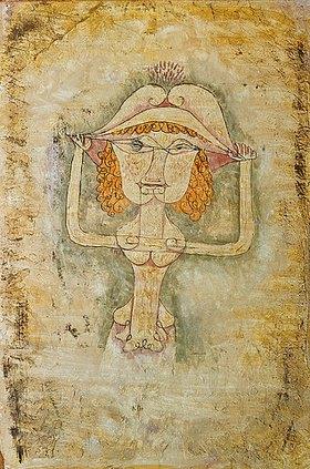 Paul Klee: Die Sängerin L. als Fiordiligi