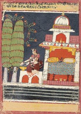 Indien: Eine Tafel aus einem Ragamala: Kamod Ragini