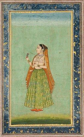 Indien: Porträt einer Dame