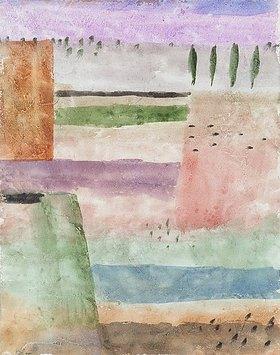Paul Klee: Landschaft mit Pappeln