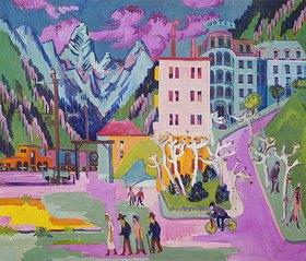 Ernst Ludwig Kirchner: Bahnhof Davos