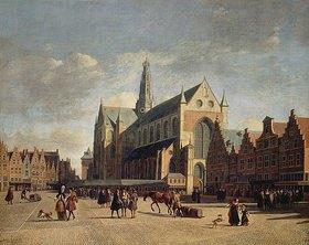 Gerrit Adriaensz Berckheyde: Der Marktplatz von Haarlem