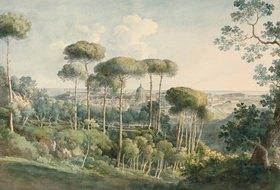 Johann Georg von Dillis: Blick von der Villa Melini auf Rom