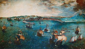 Pieter Brueghel d.Ä.: Der Hafen von Neapel